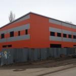 Ангар из сэндвич панелей для ремонта и обслуживания грузового транспорта. Московская область Домодедово.